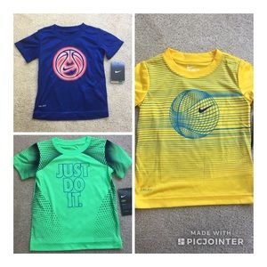 3t Nike dri-fit Tee Lot NWT